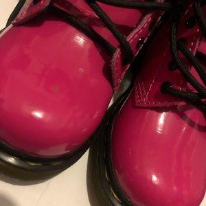 Dr. Martens Shoes - Hot pink toddler doc martens